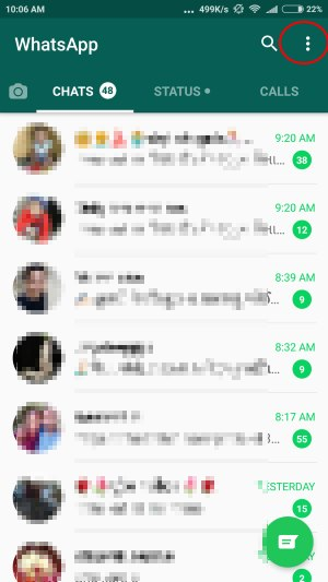 1 WhatsApp Settings on android