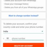 5 WhatsApp Account Delete from android mobile