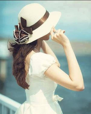 6 cute white dress girl WhatsApp Dp (1)