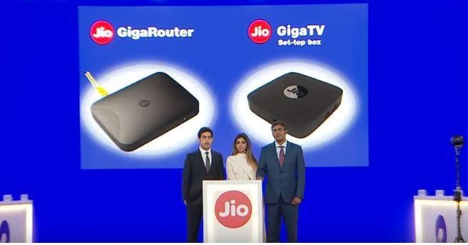 jio giga router & jio giga Tv set up box