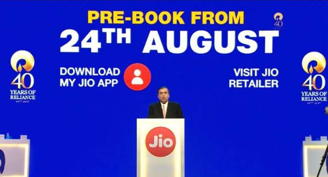 pre-booking jio phone 2
