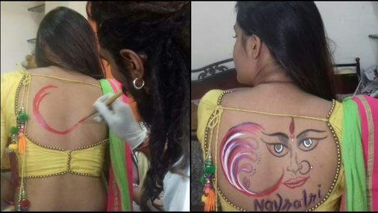 9. indian tattoo-NAVRATri festival image (1)