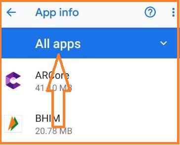2. Tap All App on pixel 3 (1)