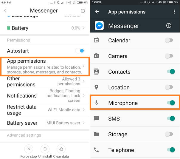 App Permission On Android Mobile to Access Microphone