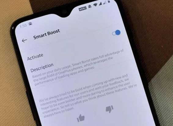 How to Enable Smart Boost on OnePlus 6t that Free Up Memory