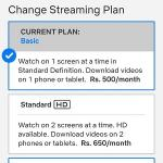 How to change plan on Netflix