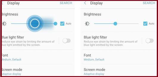 Adjust screen brightness on Samsung galaxy A9/A9 pro