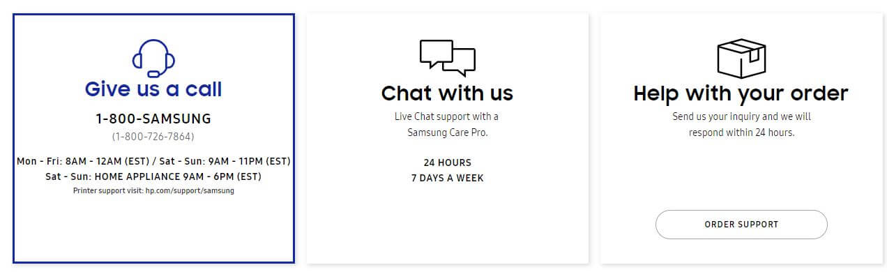 Discuss and fix your issues on Online help center at samsung