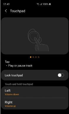 Left touchpad and right touchpad