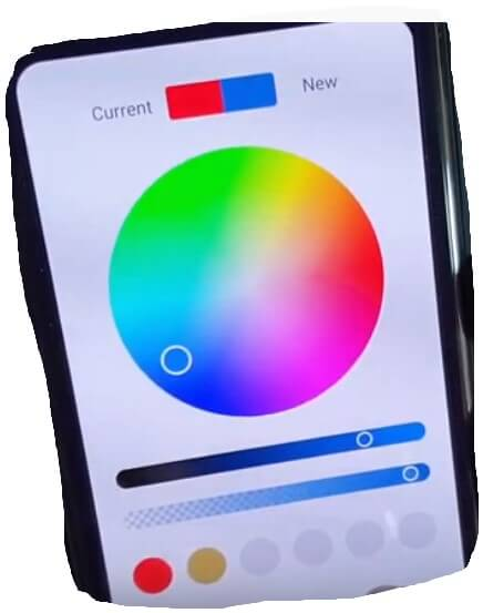Select Your Color from color picker and set on Folder