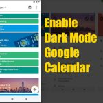 Dark Mode in Google Calendar android