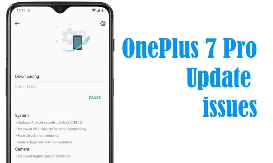 OnePlus 7 Pro Software Update issue fixed if will not install Failed to install