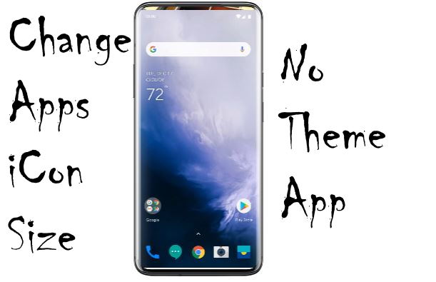 Change App icon size on OnePlus 7 Pro Home screen
