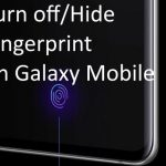 Hide or Turn off or Disable Fingerprint icon on lock screen Galaxy S10 Plus and Galaxy S10