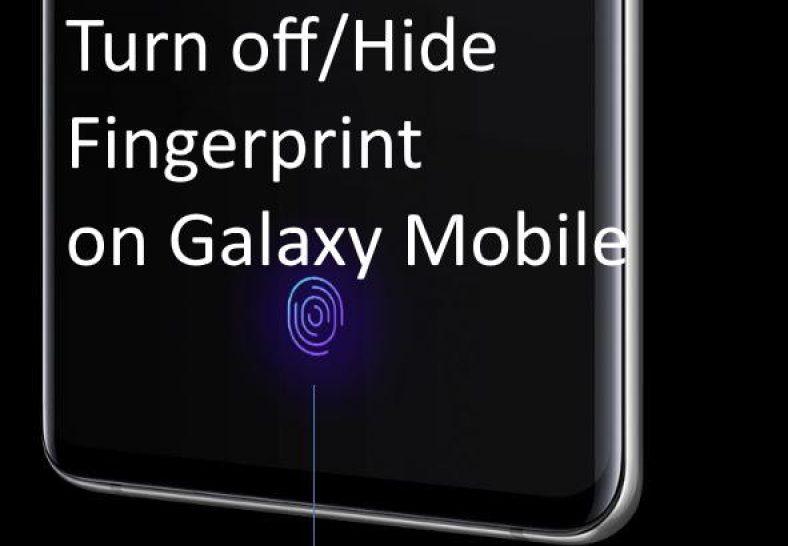 Hide Fingerprint icon lock screen Galaxy S10 - Best4Geeks