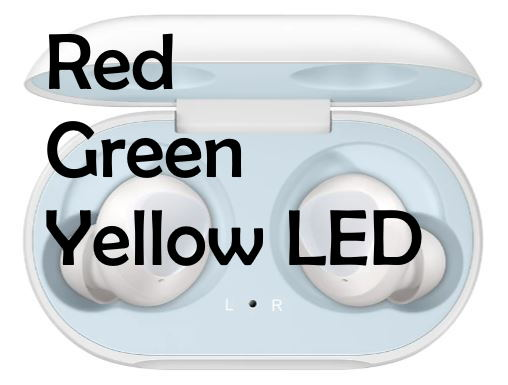 Red Green Yellow LED light on Galaxy Buds Charging Case