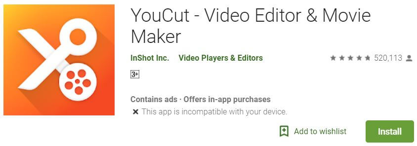 Youcut Android Mobile