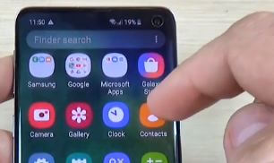 Contacts app on Galaxy mobile