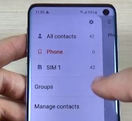 Manage Contacts on Galaxy Contacts app
