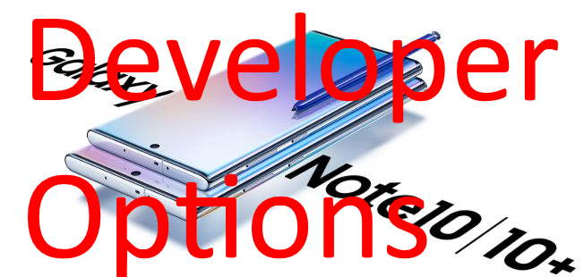 Turn off or Enable Developer Options on Galaxy Note 10 and Galaxy Note 10 Plus