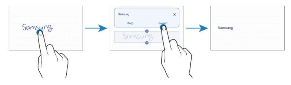Handwritten to text convert on note app