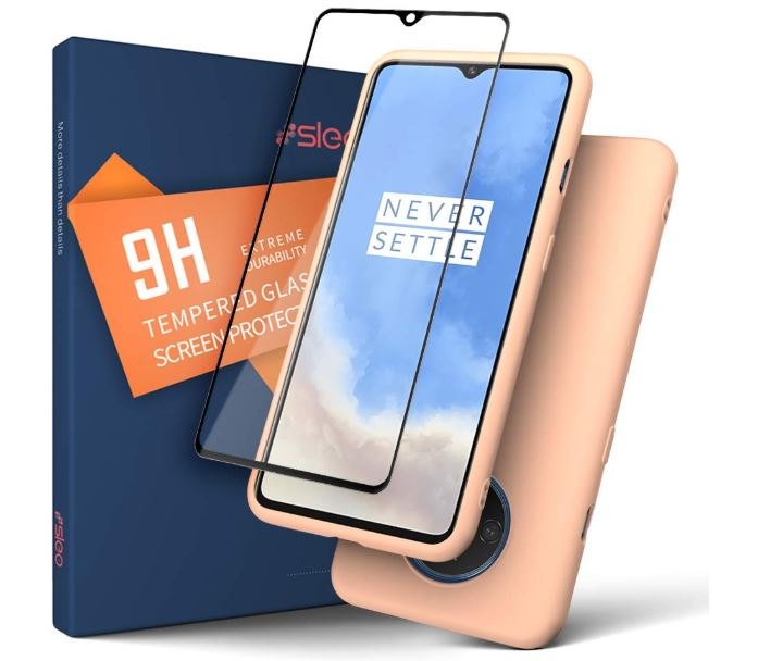 SLEO Case for OnePlus 7T Case, Ultra Thin Shock-Absorption Full Body Protection