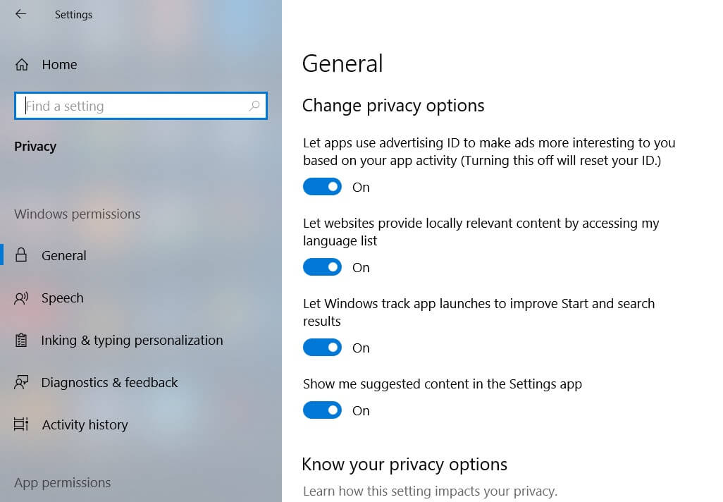 Enable location service on windows 10