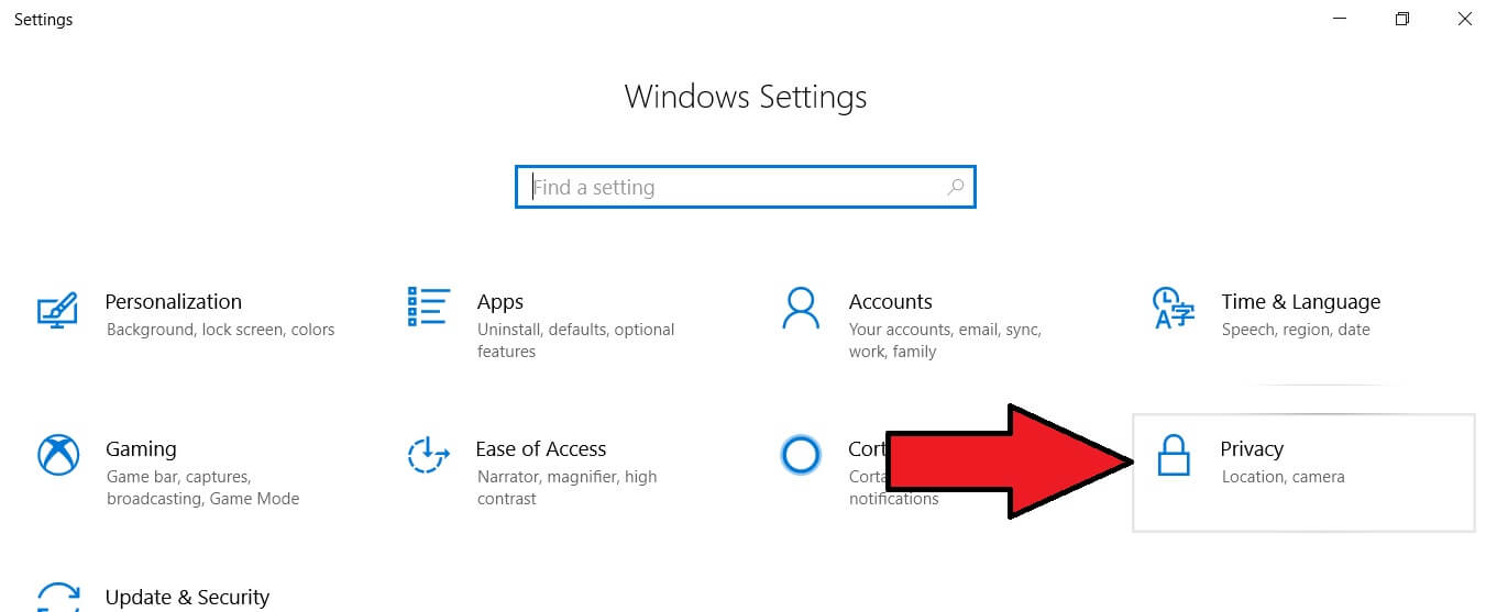 Privacy Settings for locations on windows Laptop or PC