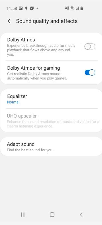 Set Adapt Sound Setting