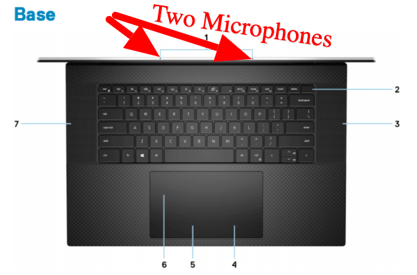 DELL XPS 17 Microphone Location