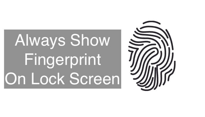 Show Always the Fingerprint Sensor iCon On the Galaxy S20 S20 Plus and Ultra
