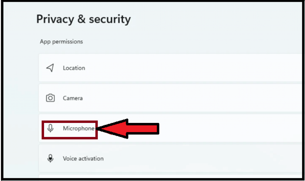 Microphone privacy settings 3