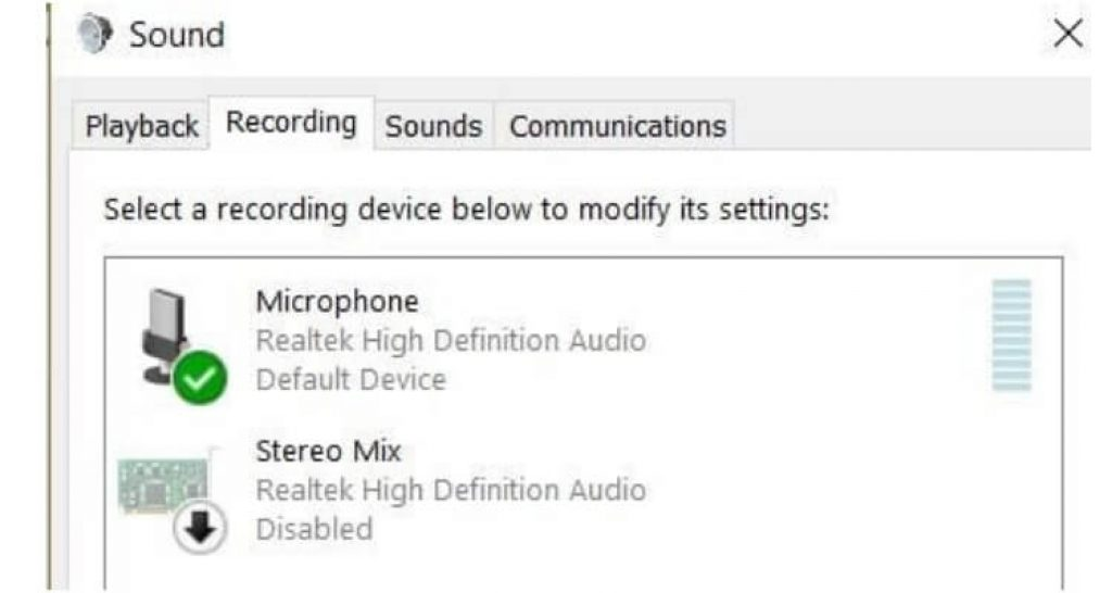 Microphone sound setting On Acer swift 3 (1)