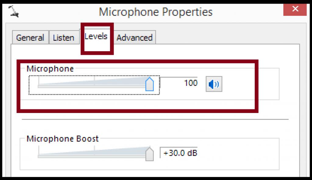 microphone level setting