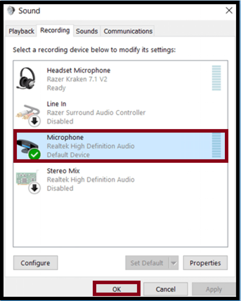 troubleshoot a malfunctioning microphone 2
