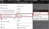 Disable/ Enable auto screen brightness in android mobile: HTC, Nexus