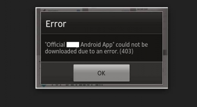 Fixed Error 403 on Download app from Play store: Android