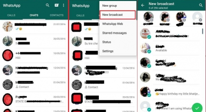 Send WhatsApp message to multiple contacts on Android