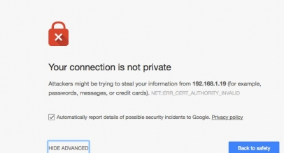Fixed: Your Connection is not a private on Google Chrome: Windows 10