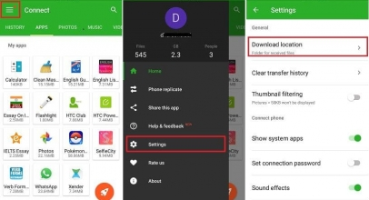 How to change Xender storage location in Android: Save path