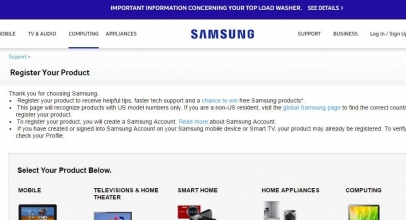 Submit your Samsung warranty registration online: USA or International