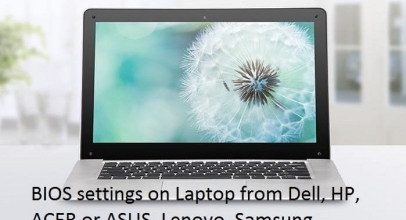 How to enter bios and change Bios settings on Laptop: Dell, HP, and ACER