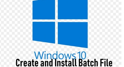 How To Create And Run Batch File On Windows 10 PC Or Laptop