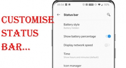 How To Customize Status Bar On OnePlus 7 Pro and OnePlus 7: Battery Percentage, iCon, Network Speed