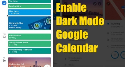 How To Enable/Disable Dark Mode On Google Calendar On Galaxy S10 or OnePlus