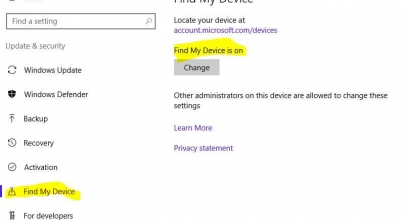How to Disable/ Enable Find my Device on Windows 10