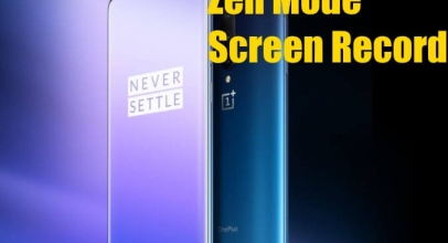 How To Use Zen Mode And Start Screen Recording On Oneplus 7 Pro And Oneplus 7