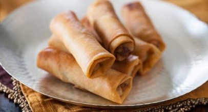 Delicious and yummy Chinese spring roll