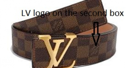Louis Vuitton Damier pattern belt fake or real?